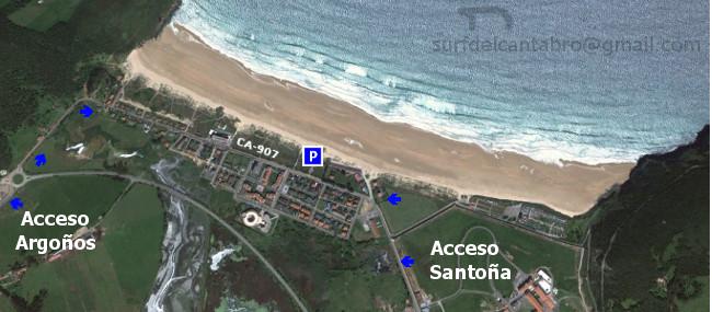 Acceso Playa de Berria. Berria beach access