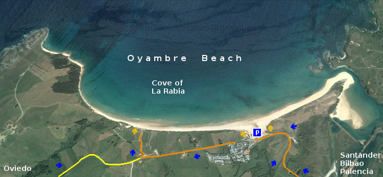 Playa de Oyambre, access