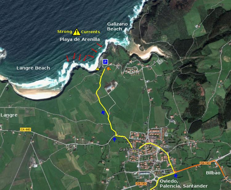Access: Playa de Arenilla, acceso