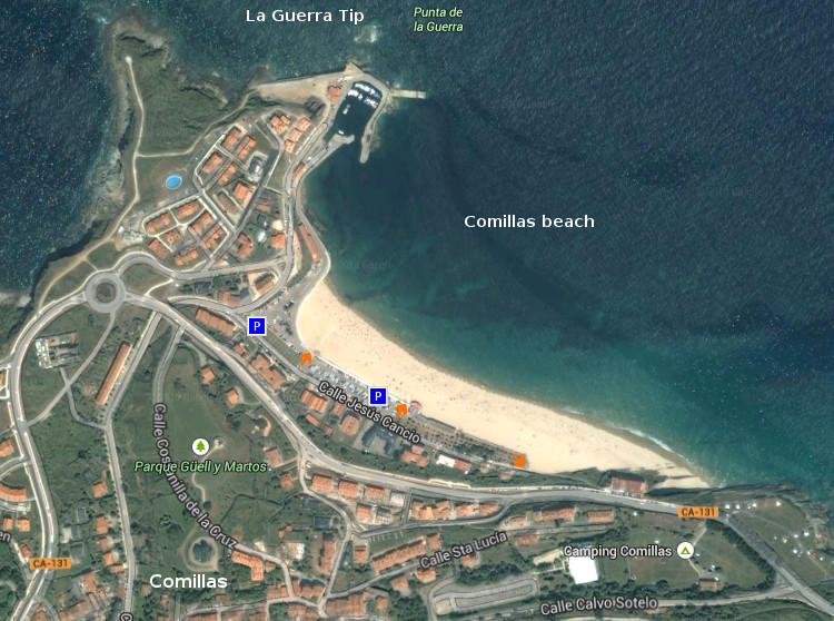 Acces: Comillas beach