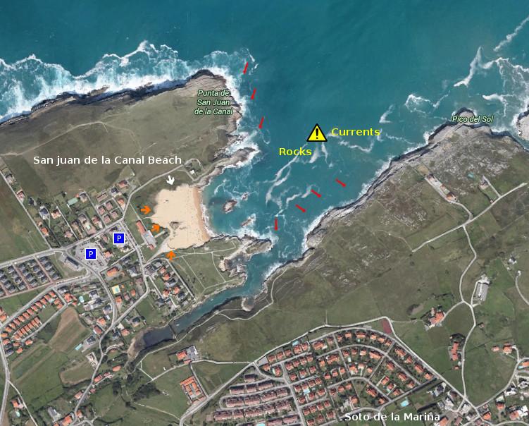 Access: San Juan de la Canal beach
