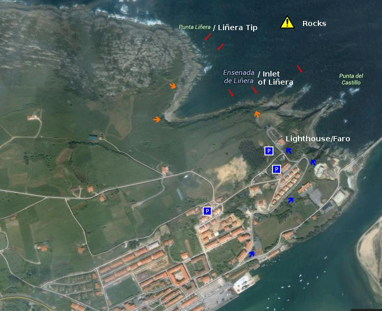 Punta Liñera: access