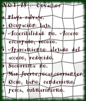 Covachos, Notas