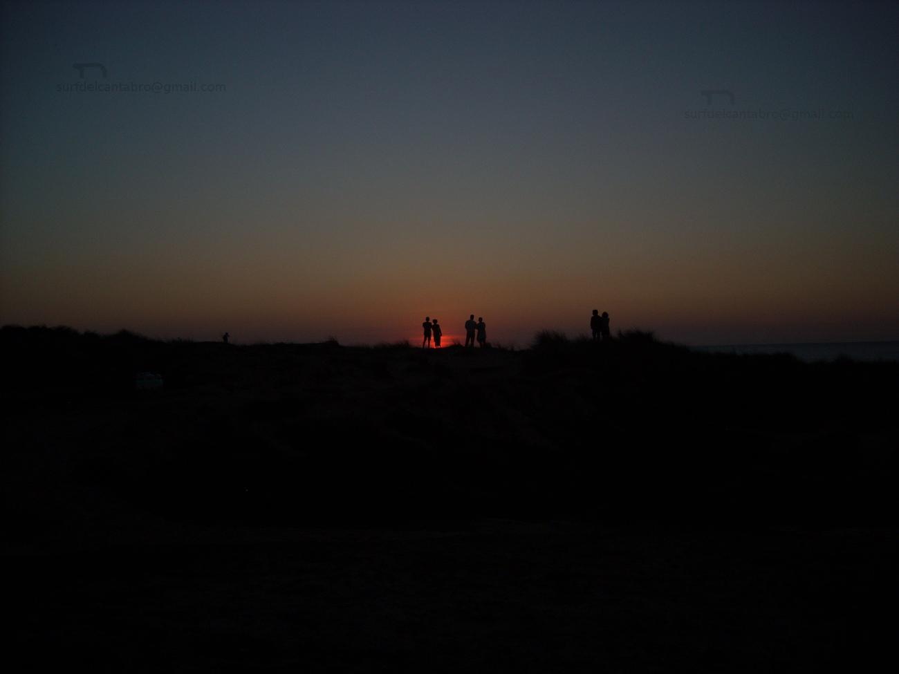 sunset & night
