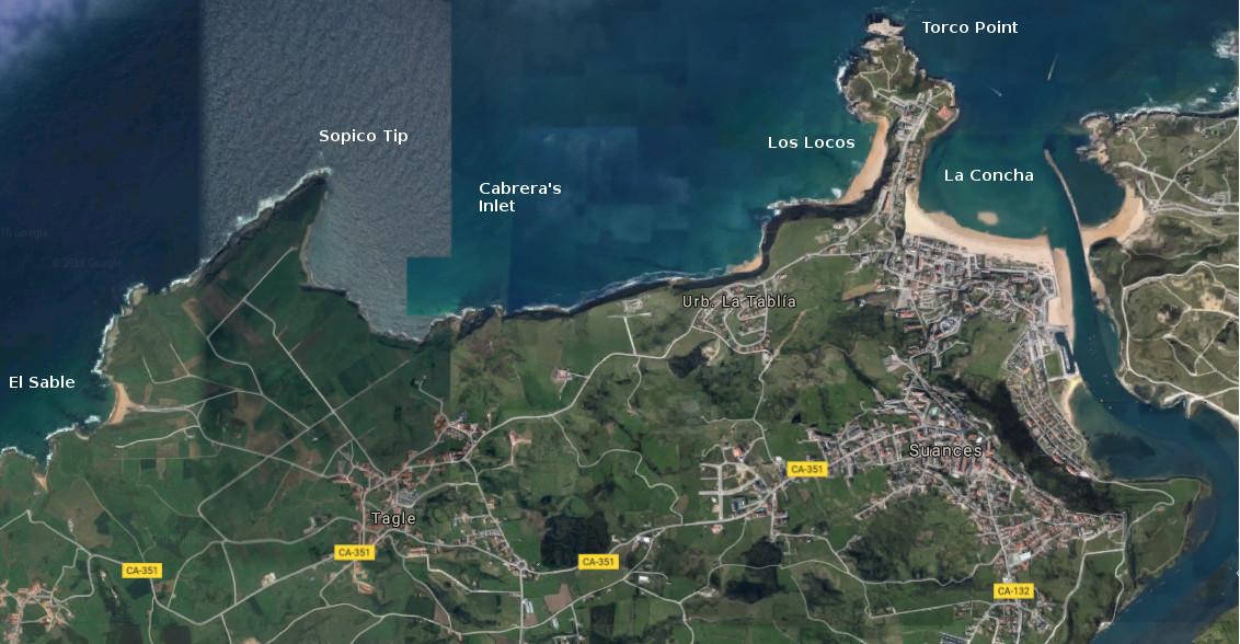 suances, map