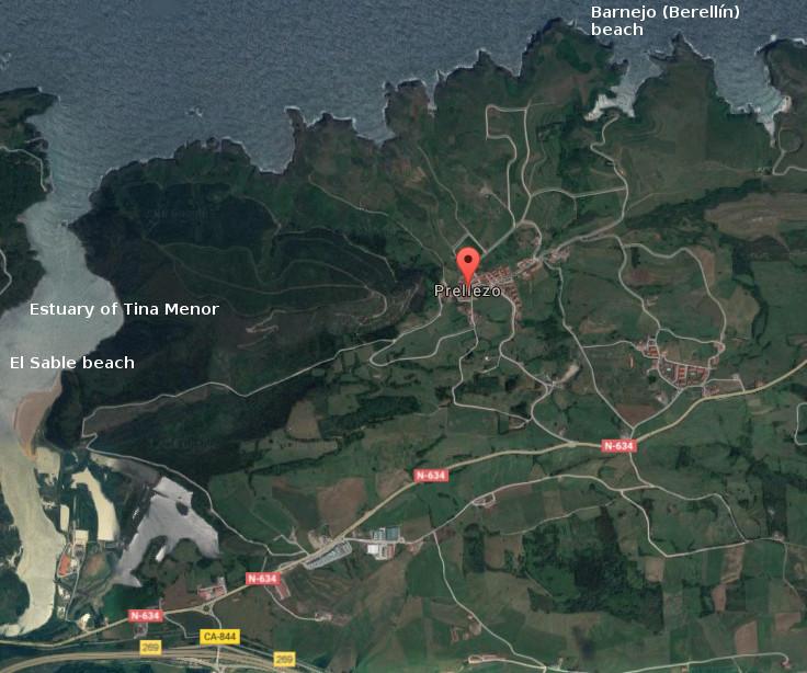 Prellezo, map