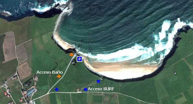 Langre, acceso/access