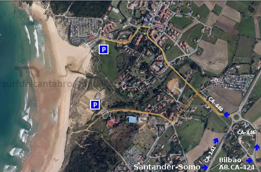 Acceso playa de Loredo. Access to Loredo beach