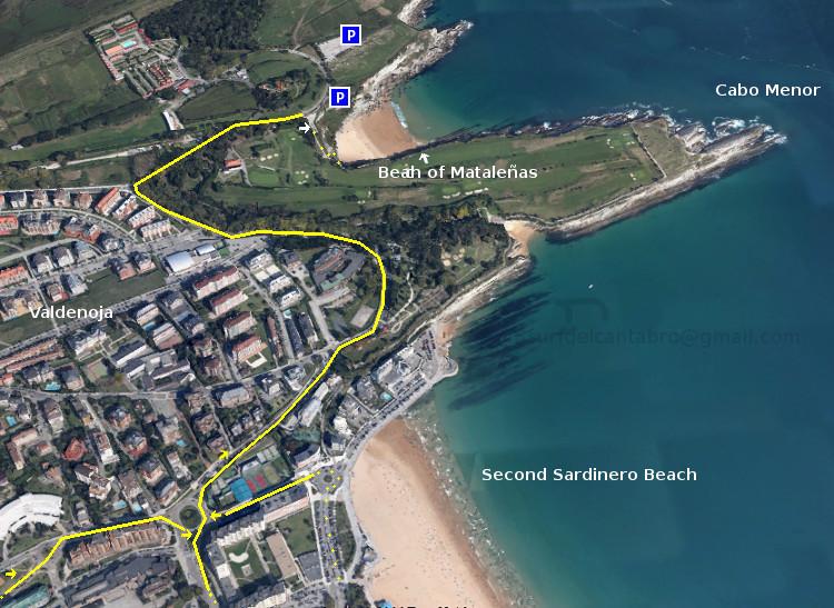 access, localization: mataleñas beach