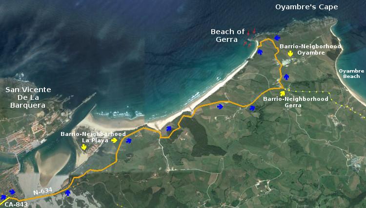 Beach of Gerra, access