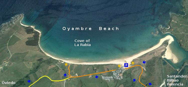 Playa de Oyambre, access