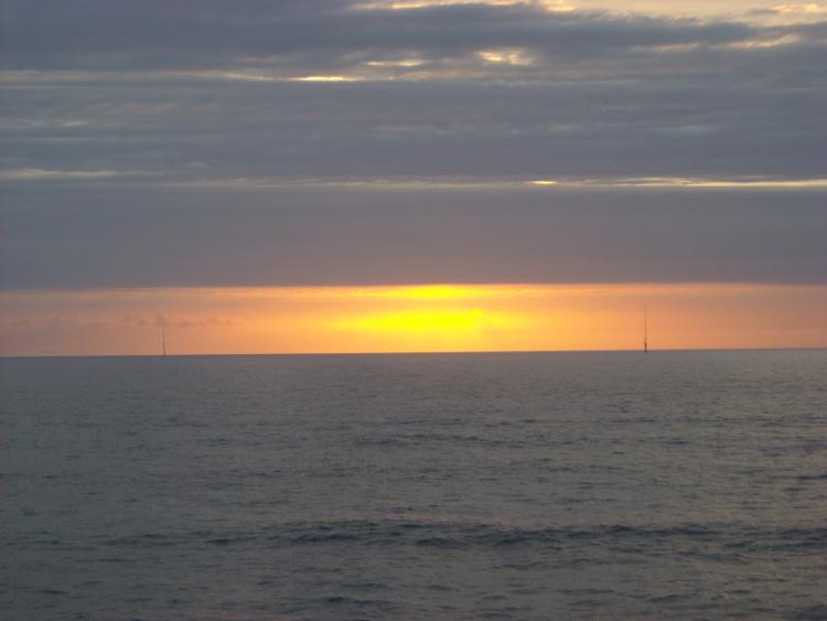 Atardecer. Santander, costa norte. Sunset. Santander, north coast