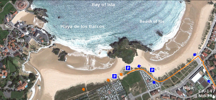 Playa de los Barcos: access