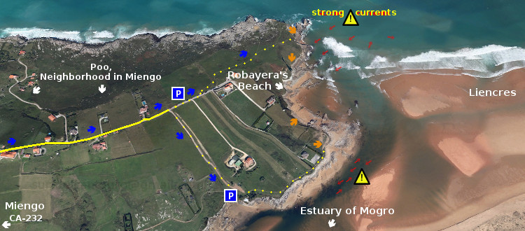 Beach Access: Playa de Robayera