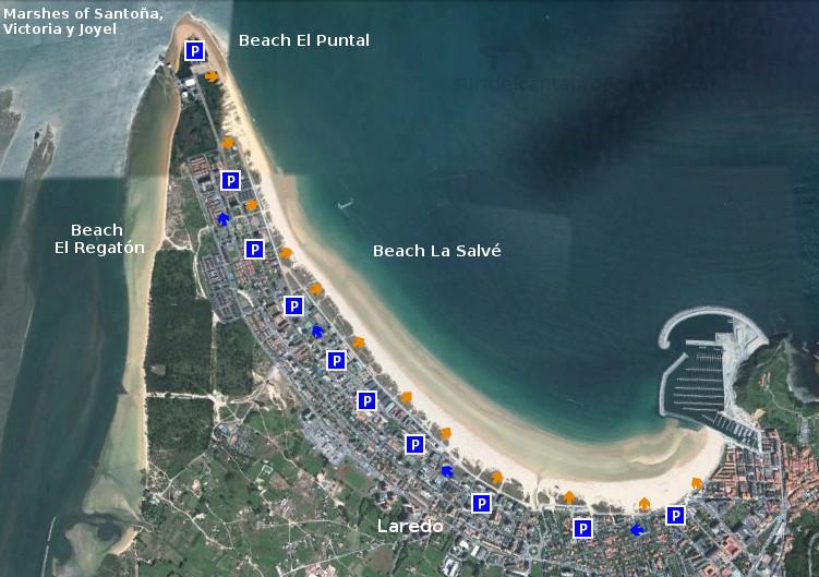 Beach La Salvé: access