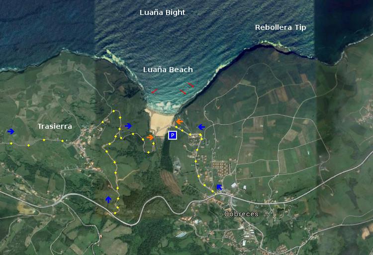 Access Playa de Luaña