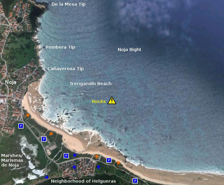 Access: playa de Trengandín