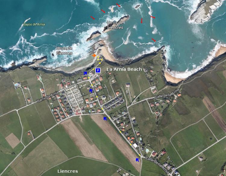 Access Playa de La Arnía