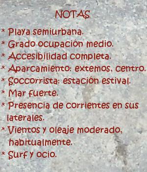Berria beach Santoña, Notas