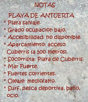Ajo, Antuerta: Notas