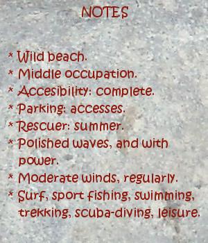 Oyambre beach, notes