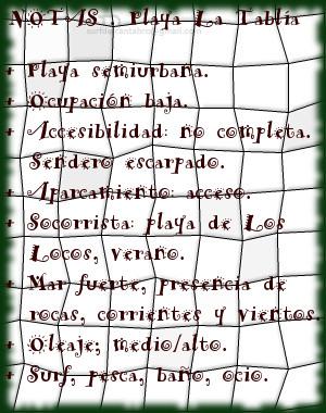 La Tablia, Notas