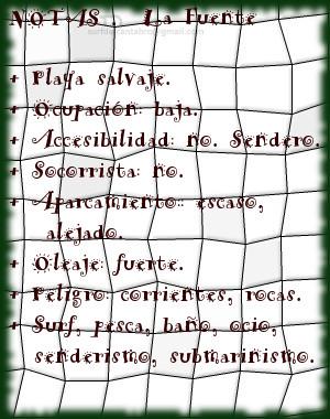 La Fuente, notas