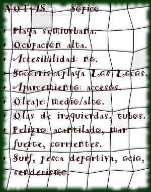 Sopico, notas