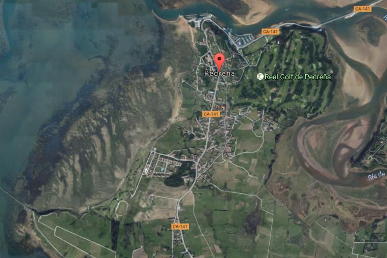 Pedreña, map