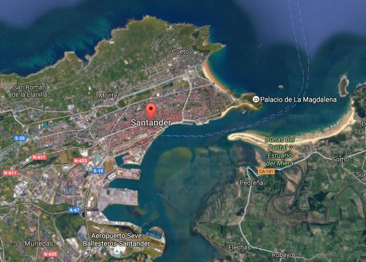 Santander, map