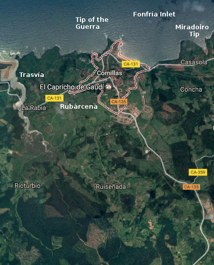 Comillas, map